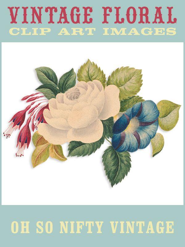 Vintage Floral Clip Art - http://vintagegraphics.ohsonifty.com/vintage-floral-clip-art/