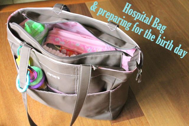 Great tips for mom-to-be to prepare for the birth day, and what to pack for hospital bags!