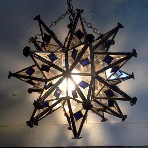 アンティーク 1灯シャンデリア/Stellation(星型多面体)/イギリス M27 ...