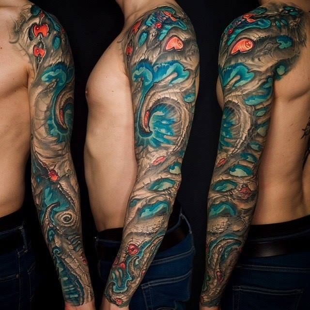 By Kirill Putyatin. 16 Badass Bio Organic Tattoos | Tattoodo.com