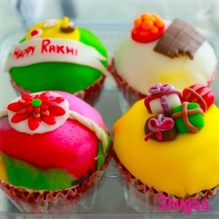 Rakhi cupcakes