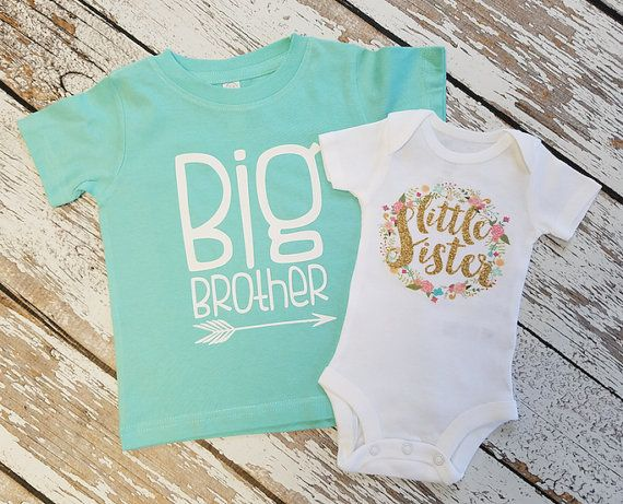 CUSTOMIZABLE Little sister Bodysuit and or Big Bother by iloveco