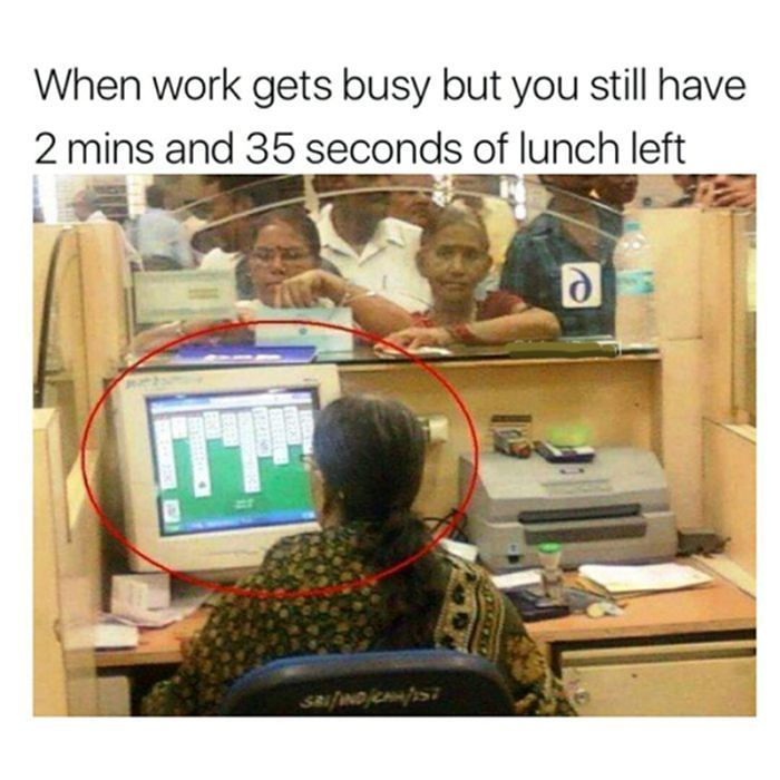 Lunch Break Time  http://timer.onlineclock.net/timers/30minutes/  #Lunch #LunchBreak #Work #Jobs #OfficeJob #OfficeHumor #Computers #Tech #Solitaire #Games #Cards #Gamers #Gamer #CardGames #Computer #Working #Job #Jobs #WorkDay #Relatable #Game #CardGame #LMFAO