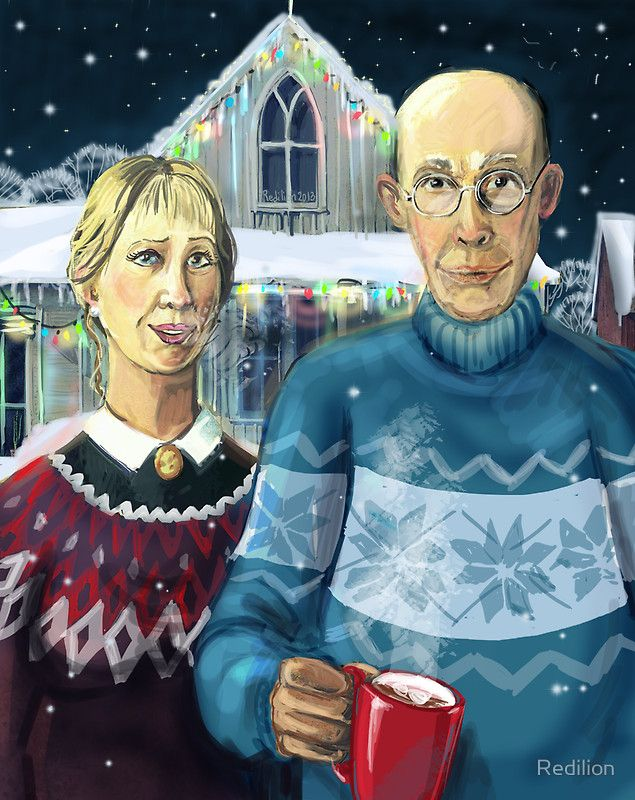 American Gothic Christmas Art Parodies Pinterest