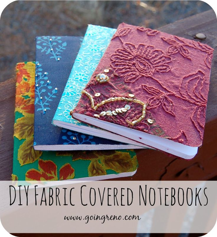 No sew fabric covered notebook