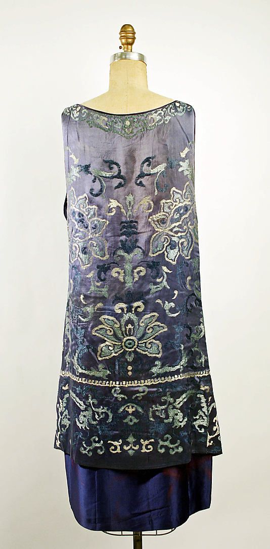 Back of Dress, Evening. Callot Soeurs (French, active 1895–1937). Date: 1926. Culture: French. Medium: silk.