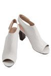 White block heel with sling back