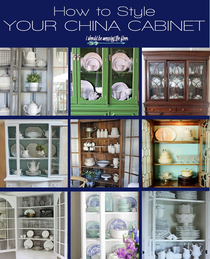 China Cabinet Styling Ideas | From traditional to modern to fun farmhouse styling...there's a china styling idea for everyone!