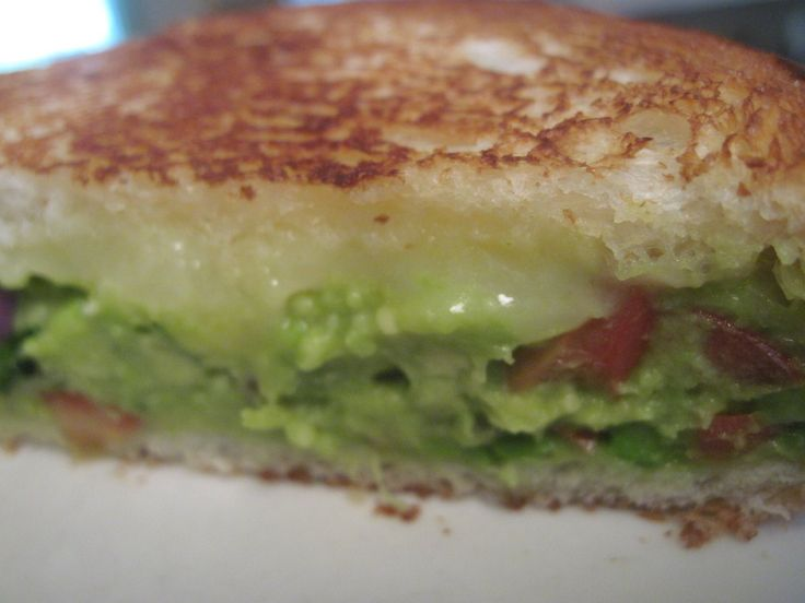 Guacamole Grilled Cheese Sandwich - Moore or Less Cooking Food Blog