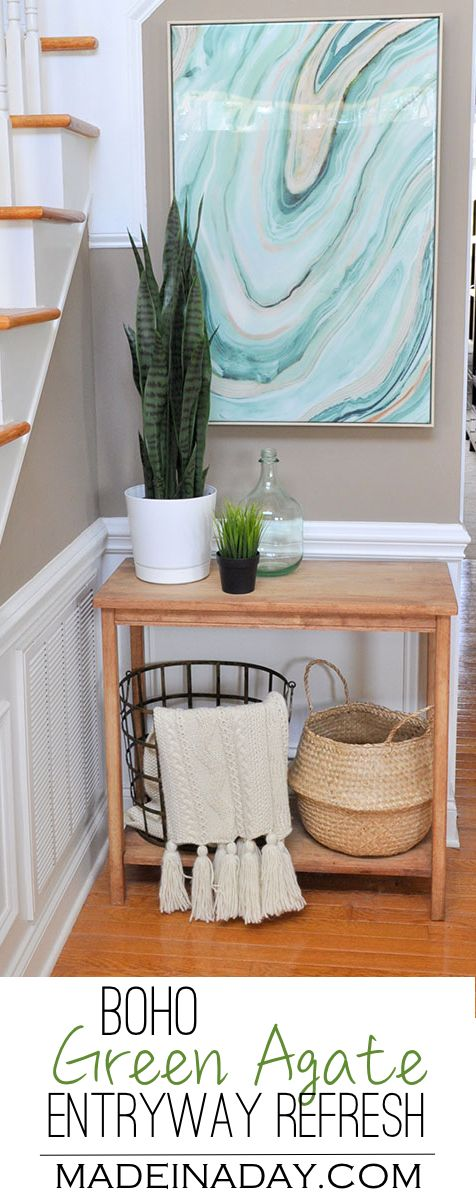 Fresh Entryway Makeover Using Silk Plants. 25  best ideas about Wall Art Bedroom on Pinterest   Bedroom