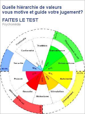 Quelle hiérarchie de valeurs vous motive et guide votre jugement? FAITES LE TEST | PsychoMédia