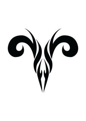 Zodiac Tattoo Designs With Image Zodiac Symbol Picture Aries Tribal Tattoo 5