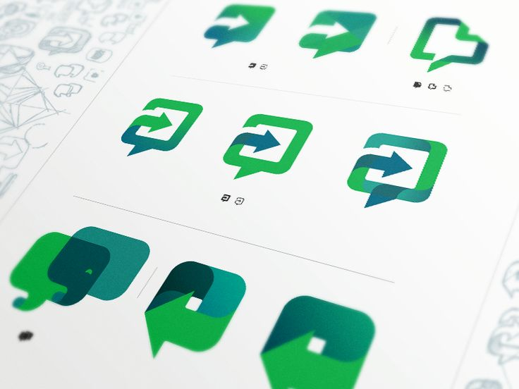 Some of the explorations I did for Evernote Work Chat logo/icon. The final logo/icon is the first one on the second row. The idea behind the final logo was not only to show clearly that it is a cha...
