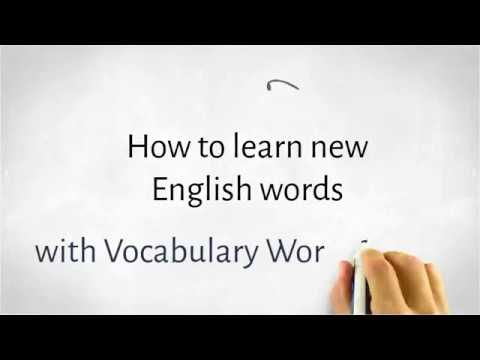 How to learn new English words with Vocabulary Worksheets