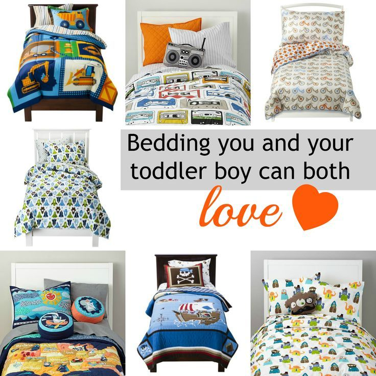 15 Big Boy Bedding Sets That Both You and Your Toddler Will Love - Love these alternative ideas! I hate character bedding! Is it wrong that I don't want Van to have Lightning McQueen stuff everywhere? Lol.