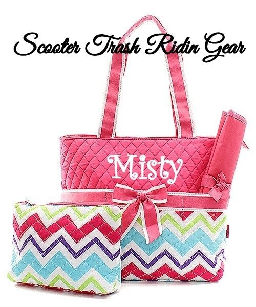 31 best personalized diaper bags monogrammed baby totes images on diaper bag personalized baby tote hot pink chevron zigzag print monogrammed new negle Images