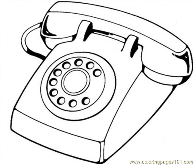 Telephone Coloring Page Free Telecom Coloring Pages Telefono Dibujo Telefono Colores