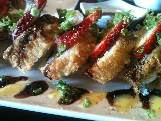 Nori Japanese Restaurant (Nanaimo) Strawberry Crunch Roll #sushi