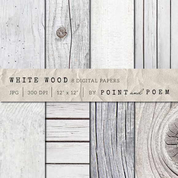 Check out White Wood Texture Pack by Point and Poem on Creative Market