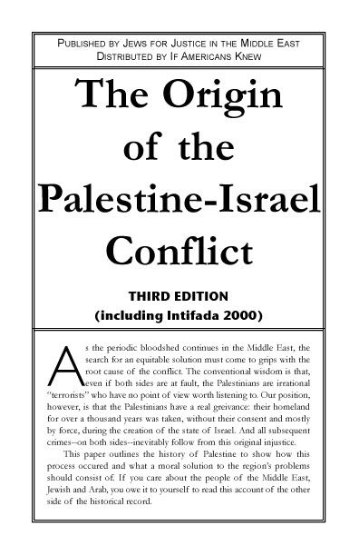 Israel palestine conflict essay