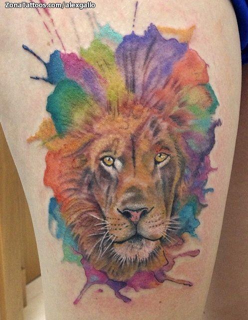 Tatuaje de león hecho por Alex Gallo, de Murcia (España).  Si quieres ponerte en contacto con él para un tatuaje visita su perfil: http://www.zonatattoos.com/alexgallo  #tatuajes #tattoos #ink