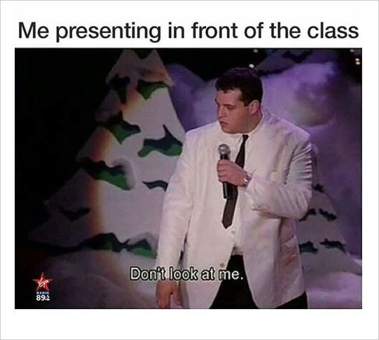 study memes: presentation in the class