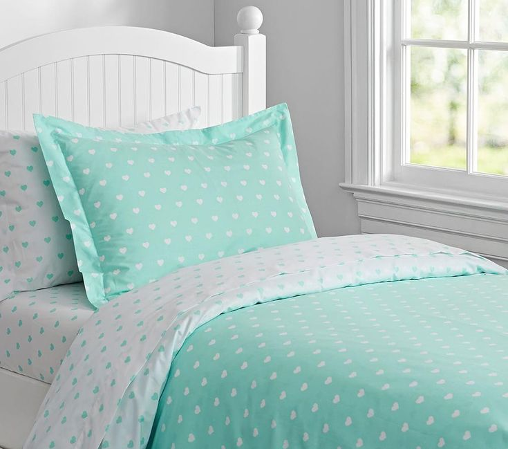 Organic Heart Quilt Cover   Pottery Barn Kids