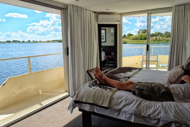 All of the rooms on board the #ZambeziQueen have personal balconies offering never ending views of the Chobe River.