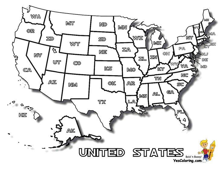 18 best Free USA States Maps Coloring Pages images on Pinterest