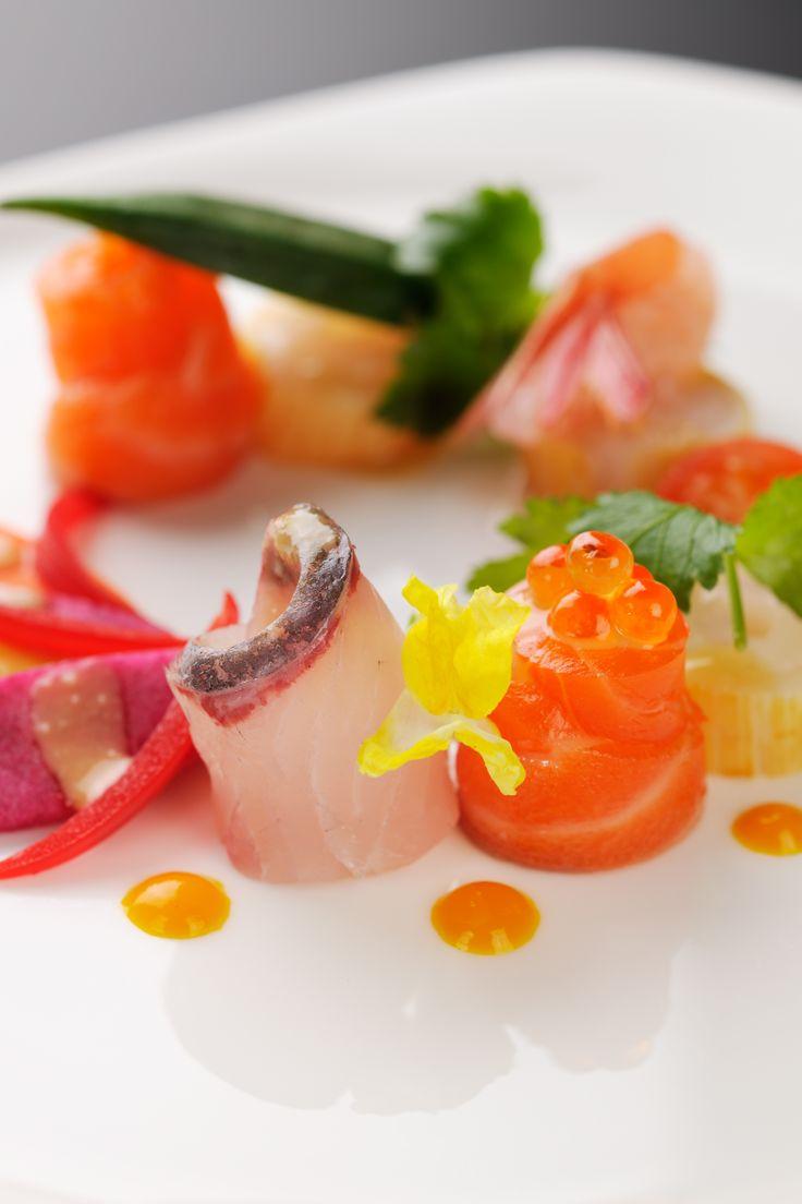2014ウエディングセレクトメニュー│鮮魚マリネとスモーク サラダ仕立て 和風ソース