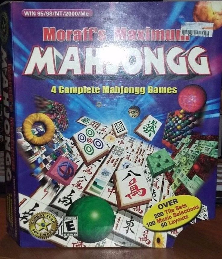 A collection of theMoraff's Mahjongg shareware versions of the classic Asian tile game. It includes four different styles of Mahjong, including the special Ringjongg and Spherejongg variants. This first release of the series features over 200 tile sets, 100 music selections, 50 layouts, and the ability to customize your own own backgrounds.   eBay!