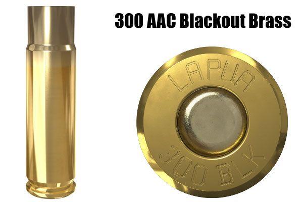 300 BLK Blackout AAC Lapua brass cartridge