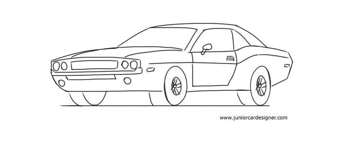 How To Draw A Muscle Car: Dodge Challenger.