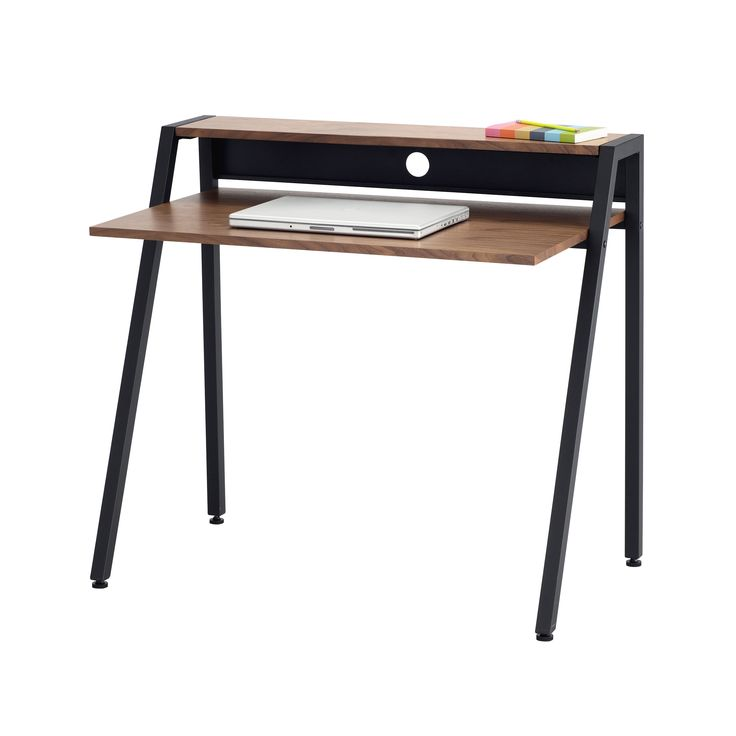 This simple and modern writing desk can easily be used for schoolwork and features extra space for cable management. With a black or white frame it easily and tastefully matches most room decor and is perfect for dorms and bedrooms.