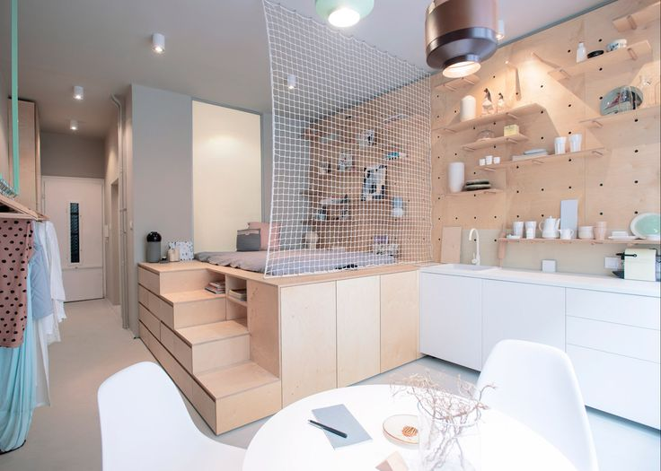 Stylish and minimalist micro-apartment makes the most of small-space living