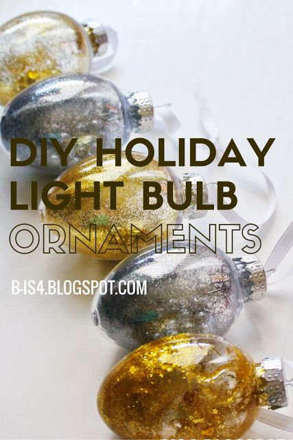 Easy and fun DIY Holiday Light Bulb Ornaments - hang them on the tree or as a holiday garland: