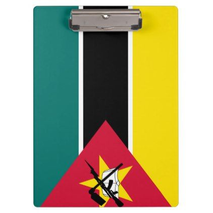 #Mozambique Flag Clipboard - #office #gifts #giftideas #business