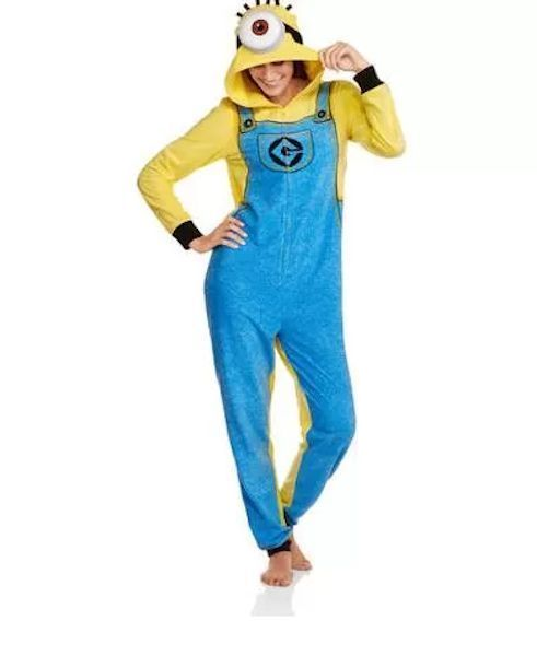 Despicable Me Minion Onesie Pajamas S M L XL 2XL NEW One Piece Minions PJs #DespicableMe #PajamaHoodedOnesie