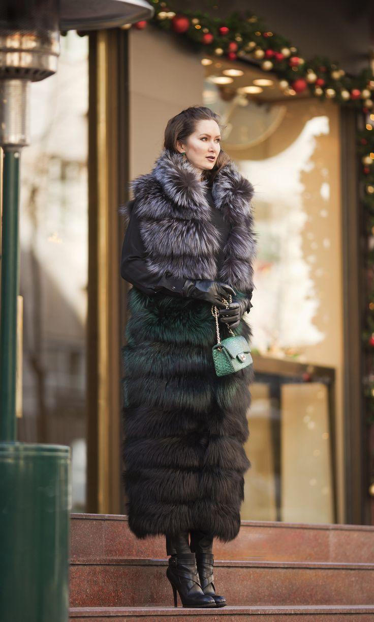 Fox long vest by ADAMOFUR #furstyle #fur #fashionista #luxury #shopping #ootd #look