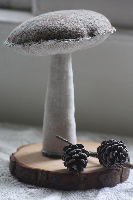 Gray Mushroom Felt Amp Felted Pinterest Mushrooms