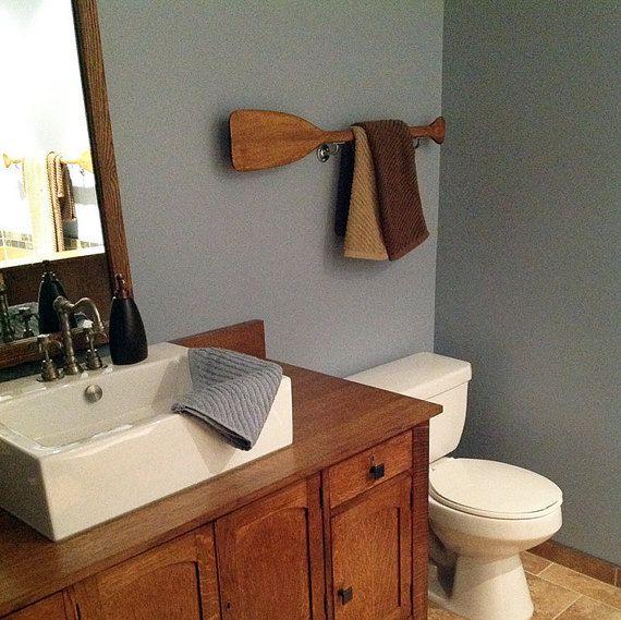 Wooden Paddle Nautical Decor Bathroom Wall Beach House Lake Oars Canoe Oar 35