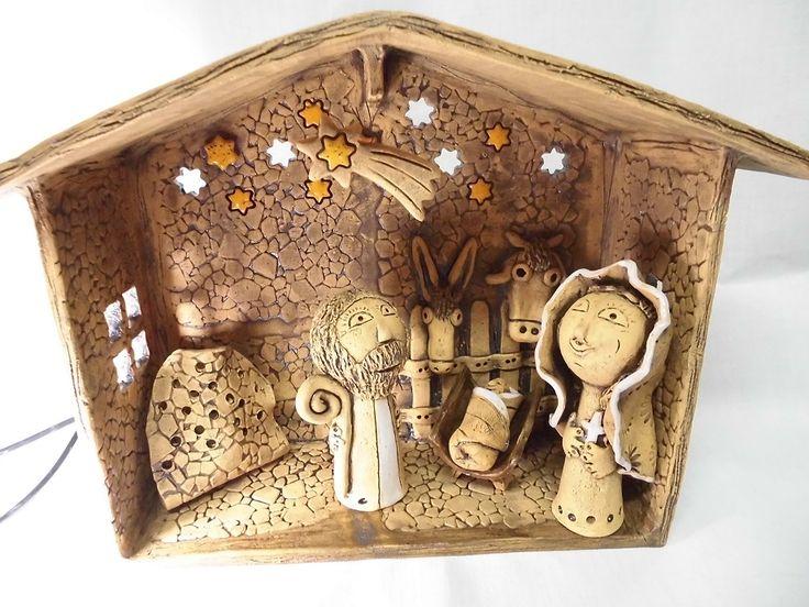 Betlém 20- základ Čtěte prosím možnosti: 1. Betlém základ....chlév-střecha do A:šířka 30 cm,výška 22 cm, hloubka 10 cm, oslík a vůl, hvězda zavěšená v prostoru), velikost postaviček 11-14 cm, Josef, Marie, Ježíšek ( 5 cm), mistička na svíčku 2. Betlém velký-celkem 8 postaviček Součástí je Josef, Marie, Ježíšek, oslík, vůl, Betlémská hvězda (zavěšená ...