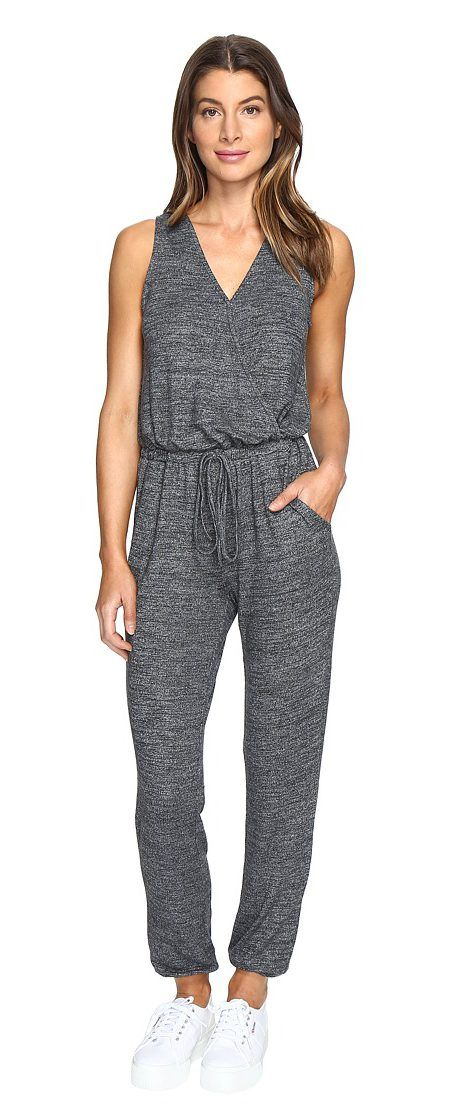 Culture Phit Aspen Cross Front Sleeveless Jumper (Charcoal) Women's Jumpsuit & Rompers One Piece - Culture Phit, Aspen Cross Front Sleeveless Jumper, VP70971HC56, Apparel One Piece Jumpsuit & Rompers, Jumpsuit & Rompers, One Piece, Apparel, Clothes Clothing, Gift - Outfit Ideas And Street Style 2017
