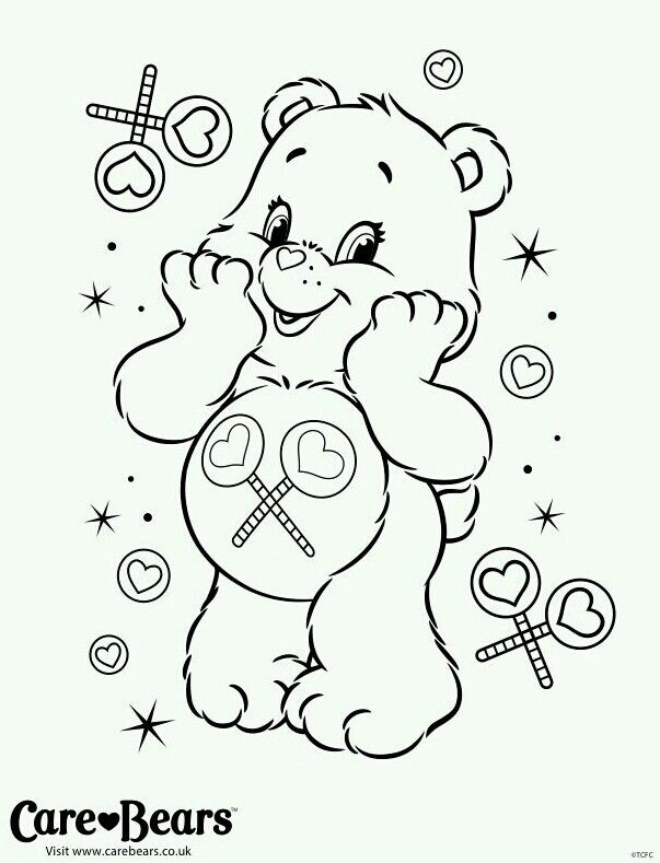 care bear valentines coloring pages-#3