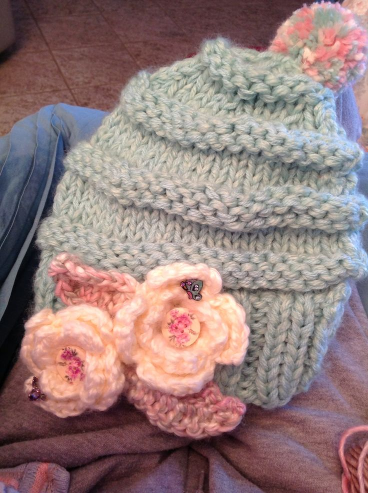 Slouchy girls beanie Vine Time Knits Jn 15:5