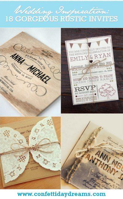 18 Rustic Wedding Invitations {Trendy Tuesday} | Confetti Daydreams ♥  ♥  ♥ LIKE US ON FB: www.facebook.com/confettidaydreams ♥  ♥  ♥ #Wedding #Invites #invitations #RusticWedding