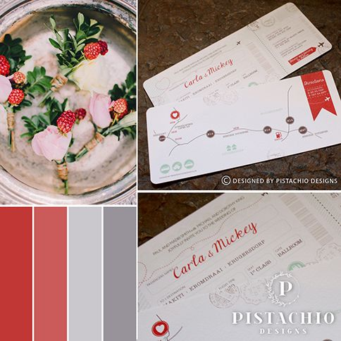 Boarding pass wedding invitations by www.pistachiodesigns.co.za