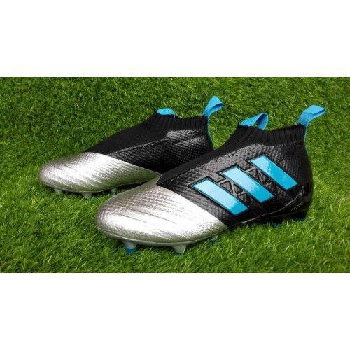 Comprar 2017 Adidas ACE 17 PureControl Sulver Negro Azul Botas De Futbol