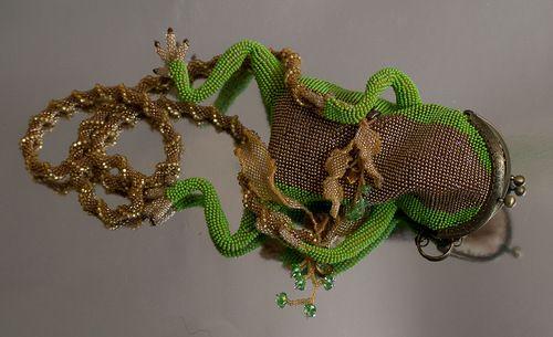 Апрельское зеленое, лягушисто-орхидейное   biser.info - всё о бисере и бисерном творчестве