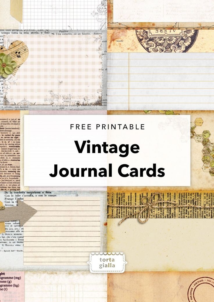 Free Printable - Vintage Journal Cards